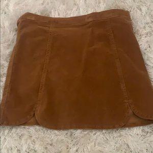 Brandy Melville suede skirt
